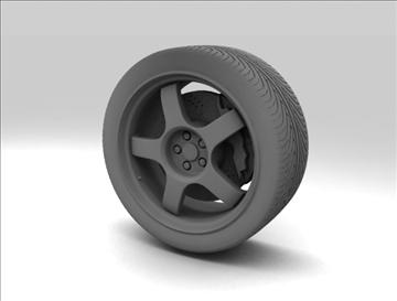 wheel 3 3d model 3ds max fbx c4d obj 111415