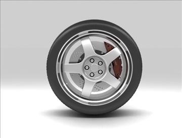 wheel 3 3d model 3ds max fbx c4d obj 111417