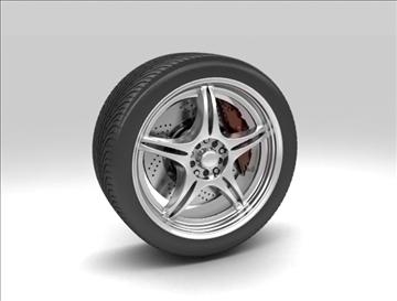 wheel 4 3d model max fbx c4d obj 111418