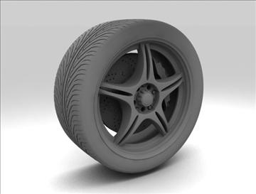 wheel 4 3d model max fbx c4d obj 111420