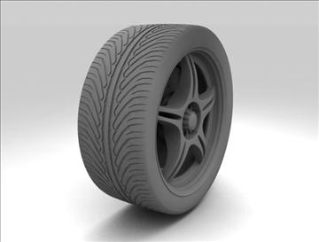 wheel 4 3d model max fbx c4d obj 111422