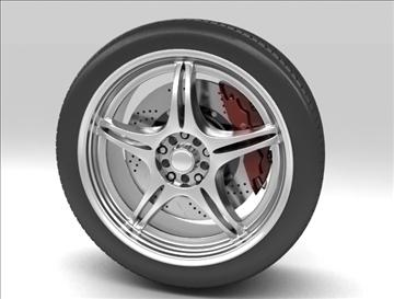 wheel 4 3d model max fbx c4d obj 111423