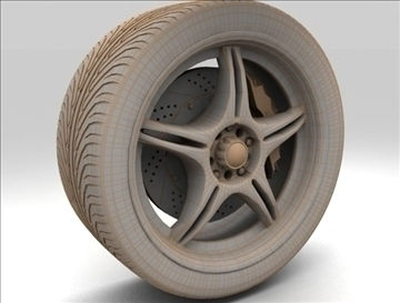 wheel 4 3d model max fbx c4d obj 111424