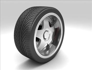 wheel 6 3d model max fbx obj 105645