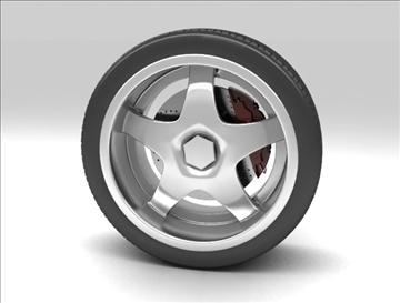 wheel 6 3d model max fbx obj 105646