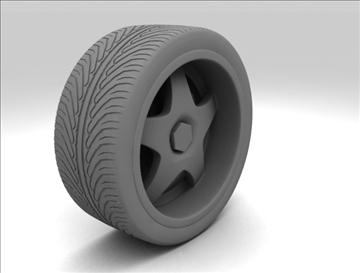 wheel 6 3d model max fbx obj 105647
