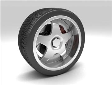 wheel 6 3d model max fbx obj 105648