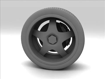 wheel 6 3d model max fbx obj 105649