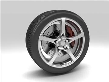 wheel 7 3d model max obj 105650