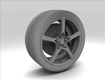 wheel 7 3d model max obj 105654