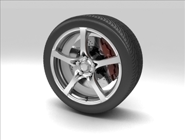 wheel 7 3d model max obj 105656