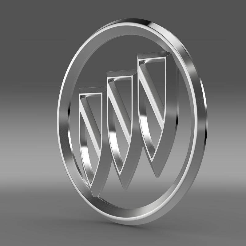 buick logo 3d model 3ds max fbx c4d lwo ma mb hrc xsi obj 116977
