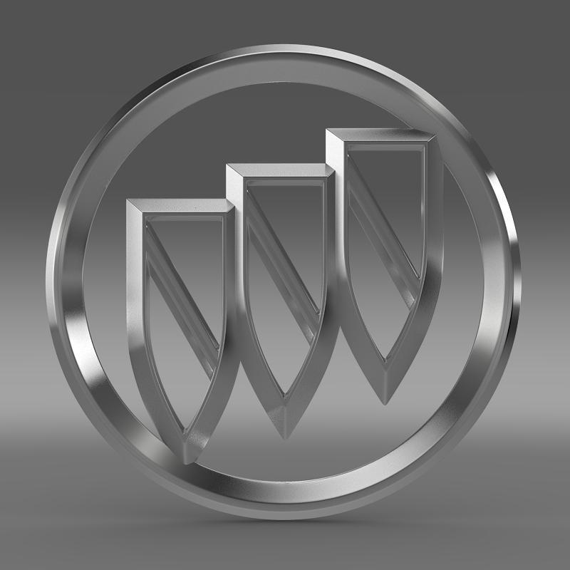 buick logo 3d model 3ds max fbx c4d lwo ma mb hrc xsi obj 116978