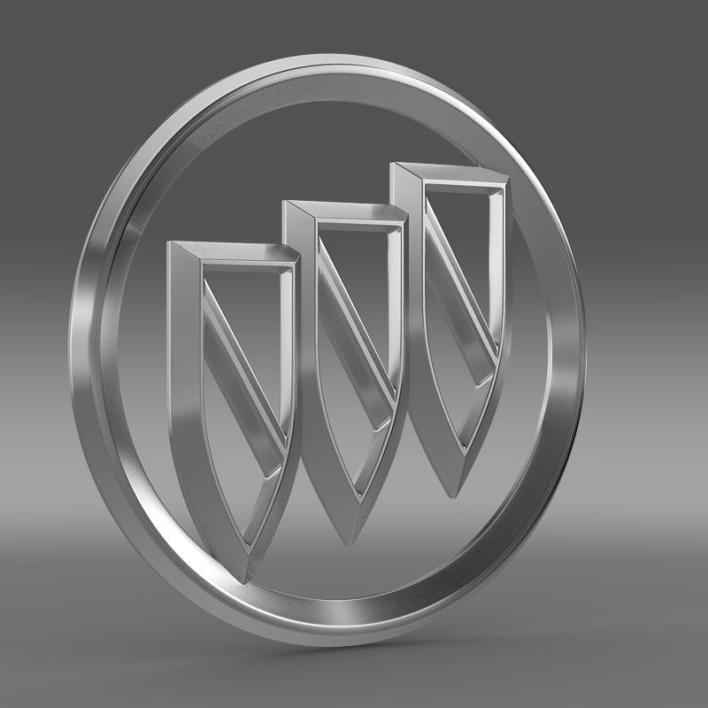 buick logo 3d model 3ds max fbx c4d lwo ma mb hrc xsi obj 116979
