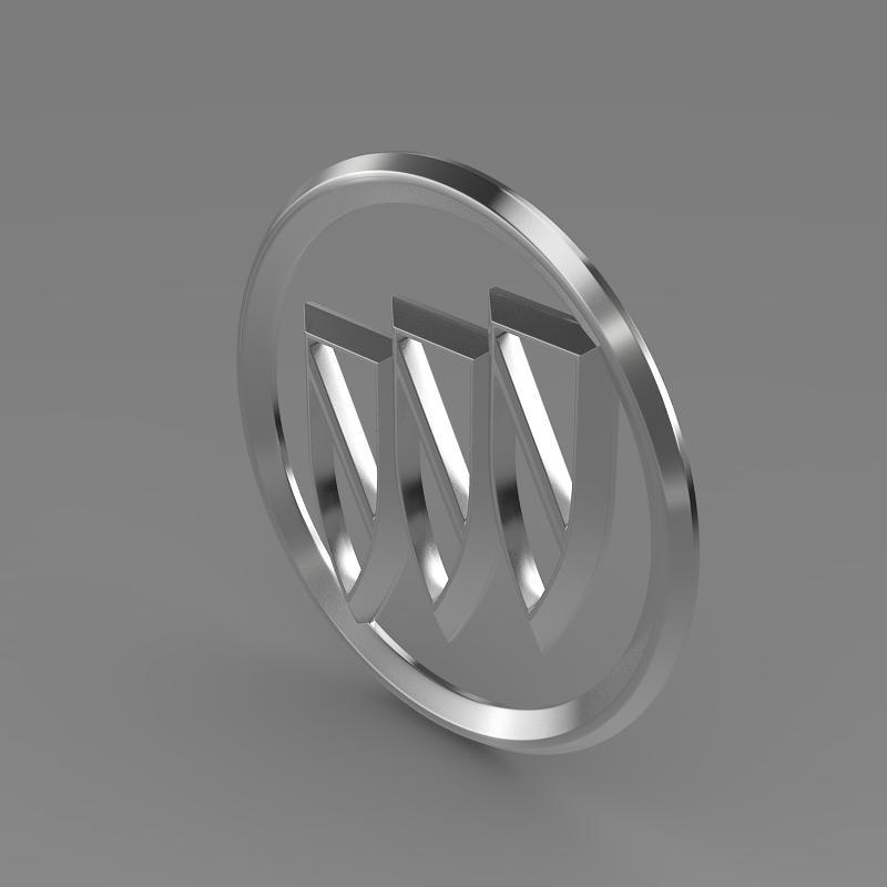 buick logo 3d model 3ds max fbx c4d lwo ma mb hrc xsi obj 116980
