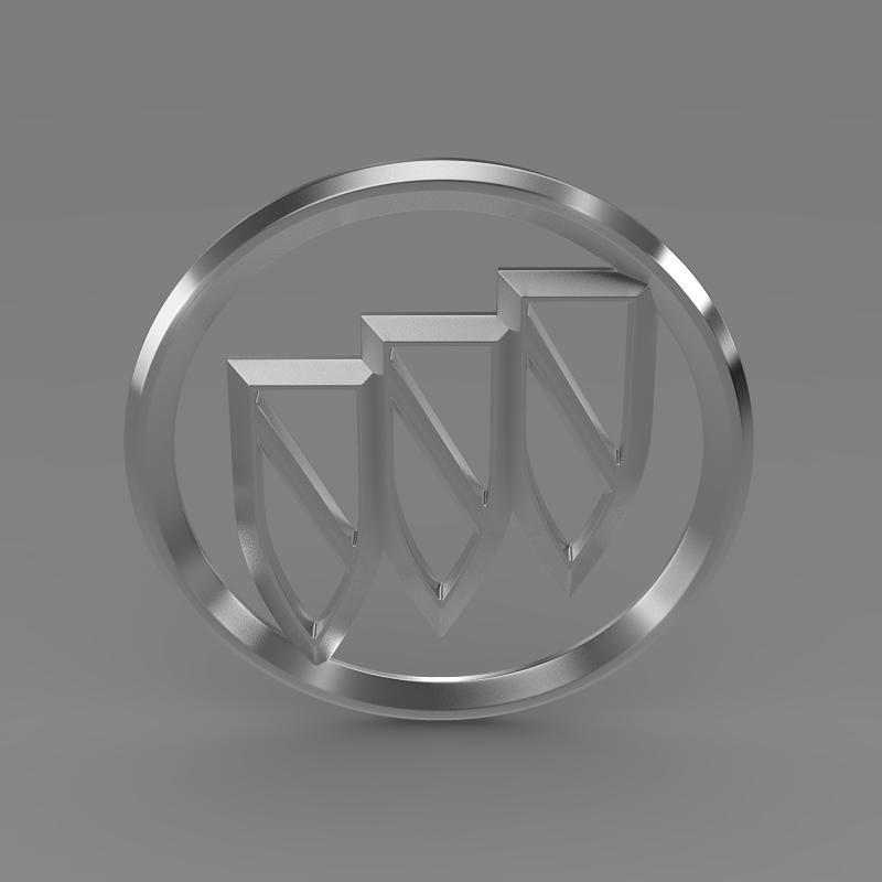 buick logo 3d model 3ds max fbx c4d lwo ma mb hrc xsi obj 116981
