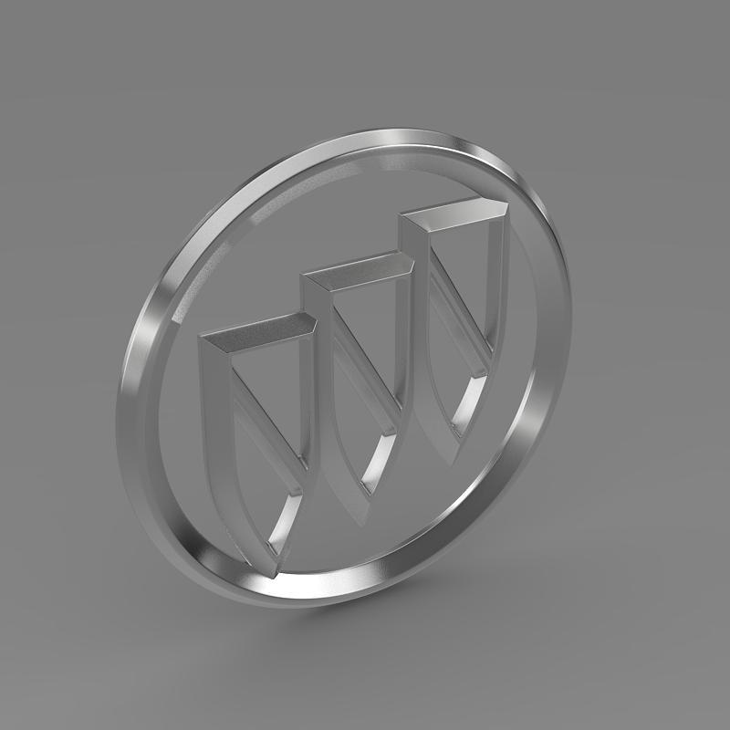 buick logo 3d model 3ds max fbx c4d lwo ma mb hrc xsi obj 116982
