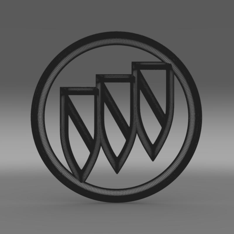 buick logo 3d model 3ds max fbx c4d lwo ma mb hrc xsi obj 116983