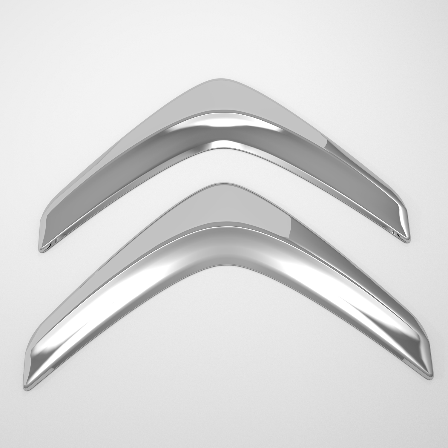 citroen logo 3d model blend obj 141297