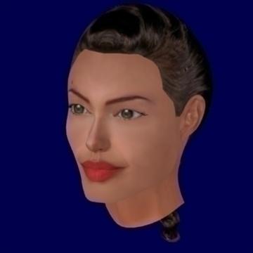 angelina jolie kiváló minőségű 3d modell keverék objektum 93241
