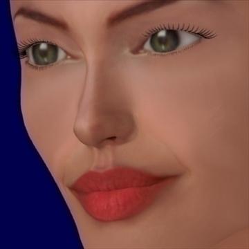 angelina jolie kiváló minőségű 3d modell keverék objektum 93245
