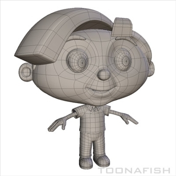 cartoony boy 3d model fbx lwo other hrc xsi texture obj 110889