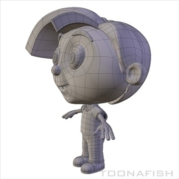 cartoony boy 3d model fbx lwo other hrc xsi texture obj 110890