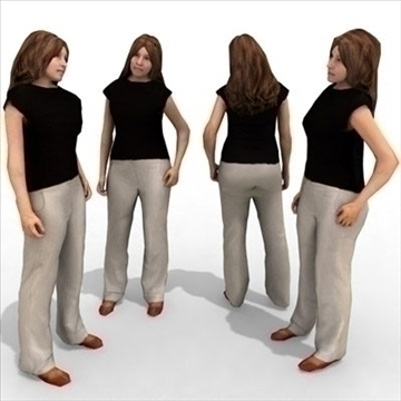 - 10a 3a model femení casual 3ds max lwo 86070