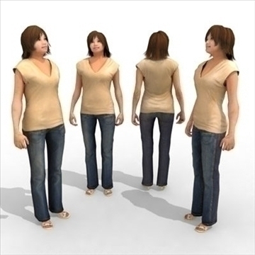 – casual female 2 3d model 3ds max lwo 85973