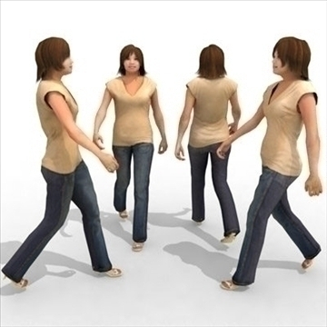 – casual female 2a 3d model 3ds max lwo 85974