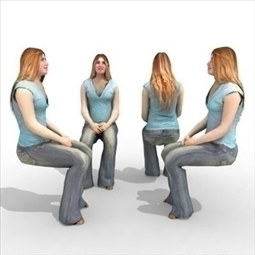 – casual female 3a 3d model 3ds max lwo 85995