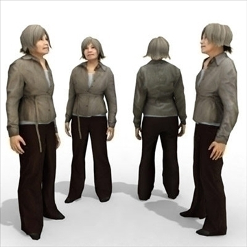 - model 9 3d femení casual 3ds max lwo 86067