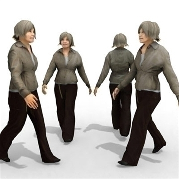 - casual female 9a 3d modelo 3ds max lwo 86068