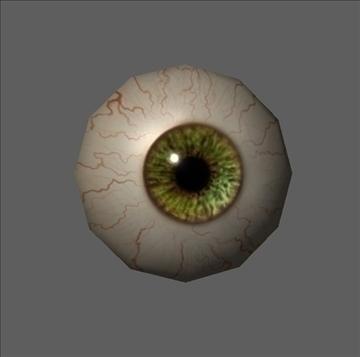 eye low poly textured 3d model ma mb psd obj 109539