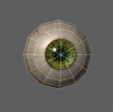 eye low poly textured 3d model ma mb psd obj 109540