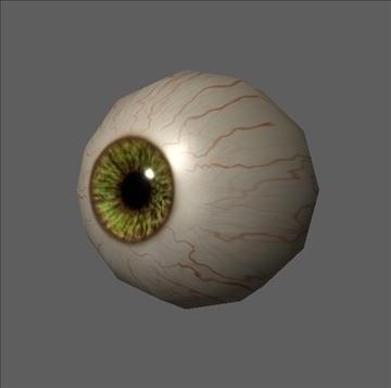 eye low poly textured 3d model ma mb psd obj 109541