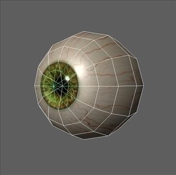 eye low poly textured 3d model ma mb psd obj 109542