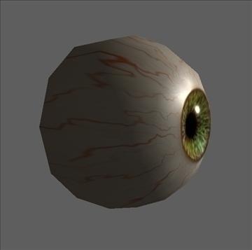 eye low poly textured 3d model ma mb psd obj 109543