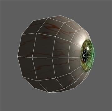 eye low poly textured 3d model ma mb psd obj 109544