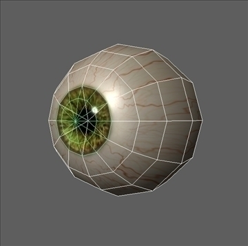 eye low poly textured ( 42.09KB jpg by 3D4buycom )