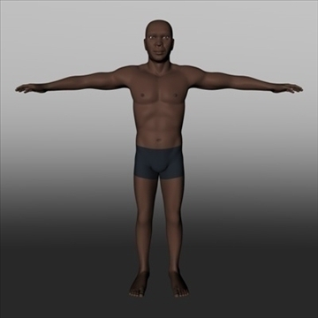 male black.zip 3d model 3ds dxf fbx c4d x obj 89760
