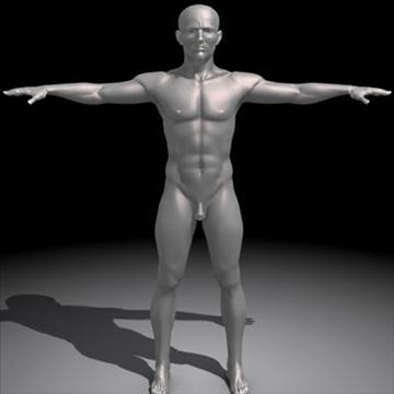 realistic human male 3d model 3ds max obj 87136