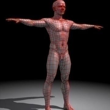 realistic human male 3d model 3ds max obj 87140
