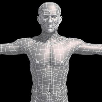 realistic human male 3d model 3ds max obj 87141