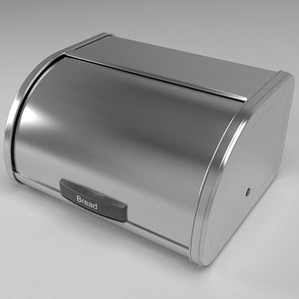 bread bin 3d model 3ds skp obj 115391