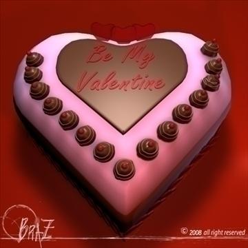 valentine cake 3d model 3ds dxf c4d obj 109521