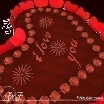 Гэгээн Валентины өдөр шоколад бялуу 3d загвар 3ds dxf c4d obj 109518