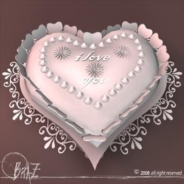 Гэгээн Валентины өдөр шоколад бялуу 3d загвар 3ds dxf c4d obj 109520
