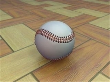baseball 3d model 3ds max lwo ma mb hrc xsi obj 110965