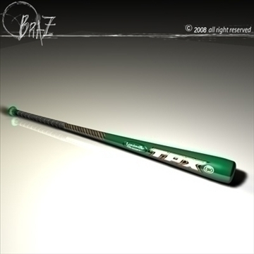 baseball bat 1 3d model 3ds dxf c4d obj 87144